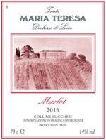 Merlot 2016 tenuta Maria Teresa Duchessa di Lucca